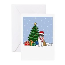 St Bernard Christmas Greeting Cards (Pk of 20)