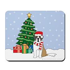 St Bernard Christmas Mousepad