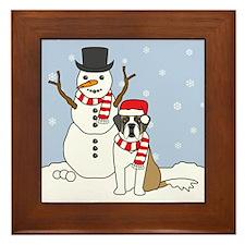 Saint Bernard Winter Framed Tile