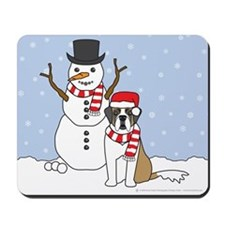 Saint Bernard Winter Mousepad