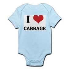 I Love Cabbage Infant Creeper