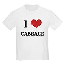 I Love Cabbage Kids T-Shirt