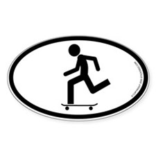 """Skater"" - Oval Decal"