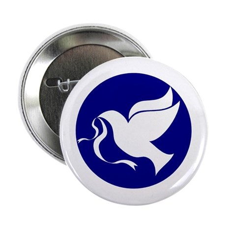 "Peace Dove 2.25"" Button"