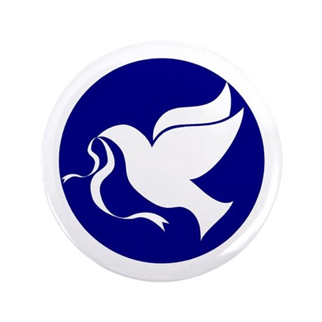 "Peace Dove 3.5"" Button"