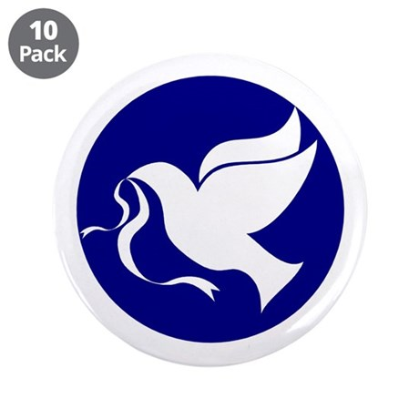 "Peace Dove 3.5"" Button (10 pack)"