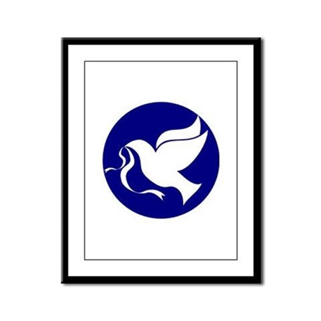 Peace Dove Framed Panel Print