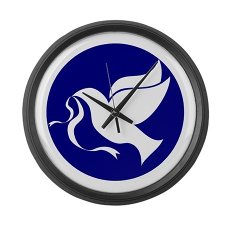 Peace Dove Large Wall Clock