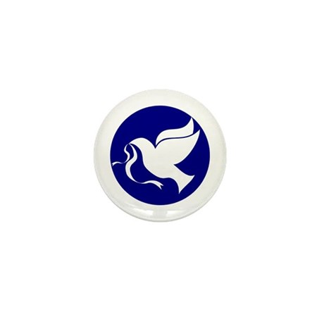 Peace Dove Mini Button (10 pack)