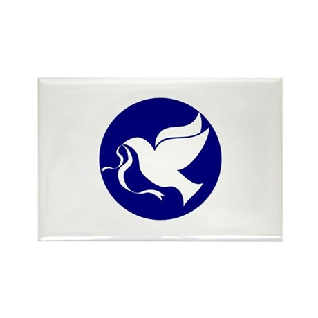 Peace Dove Rectangle Magnet (100 pack)