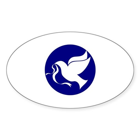 Peace Dove Oval Sticker (10 pk)