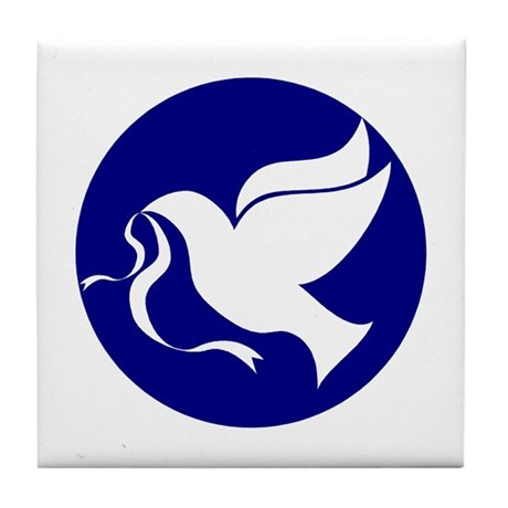 Peace Dove Tile Coaster