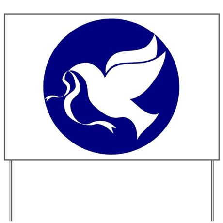 Peace Dove Yard Sign