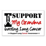 Support Lung Cancer Awareness Rectangle Sticker 1