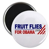 "Fruit Flies for Obama 2.25"" Magnet (10 pack)"