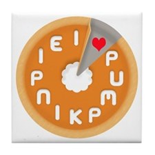 I LOVE PUMPKIN PIE Tile Coaster
