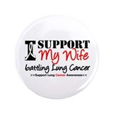 "Support Lung Cancer Awareness 3.5"" Button"