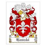 Hanski Family Crest Small Poster