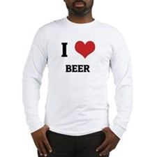 I Love Beer Long Sleeve T-Shirt