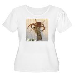Crab Spider Eat Me Women's Plus Size Scoop Neck T-