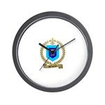 DECHAINE Family Crest Wall Clock