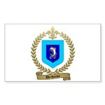 DECHAINE Family Crest Rectangle Sticker 50 pk)