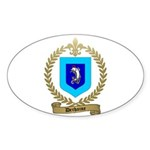 DECHAINE Family Crest Oval Sticker (50 pk)