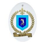 DECHAINE Family Crest Oval Ornament