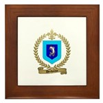 DECHAINE Family Crest Framed Tile