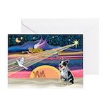 XmasAngel-Aussie Cattle Dog(s) Greeting Card