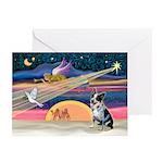 XmasAngel-Aussie Cattle Greeting Cards (Pk of 10)