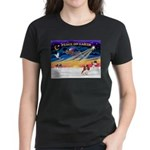XmasSunrise/Cavalier #2 Women's Dark T-Shirt