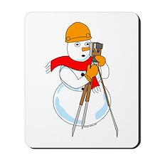 Snowman Surveyor Mousepad
