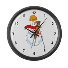 Snowman Surveyor Large Wall Clock