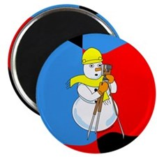 "Snowman Surveyor 2.25"" Magnet (10 pack)"