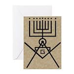 Masonic Hanukkah Menorah Greeting Card