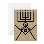 Masonic Hanukkah Menorah Greeting Cards (Pk of 10)