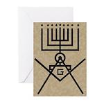 Masonic Hanukkah Menorah Greeting Cards (Pk of 10)