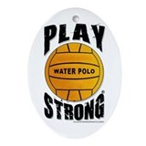 Water Polo Oval Ornament