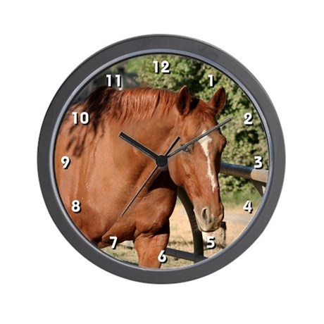 Chestnut Horse Clock By Horses By Hawk