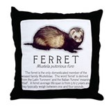 Ferret Breed Info Throw Pillow