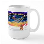 XmasSunrise/Brusels Griffon Large Mug