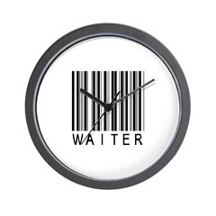 Waiter Barcode Wall Clock