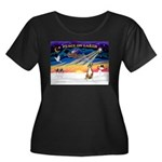 XmasSunrise/Boxer #! Women's Plus Size Scoop Neck
