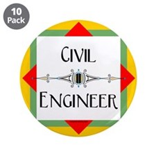 "Civil Engineer Line 3.5"" Button (10 pack)"