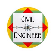 "Civil Engineer Line 3.5"" Button"