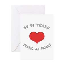 55 Young At Heart Birthday Greeting Card