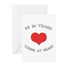 55 Young At Heart Birthday Greeting Cards (Pk of 2
