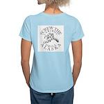 Screw Caribou Women's Pink T-Shirt