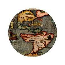 "Map of the Americas 3.5"" Button (100 pack)"